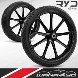 Ryd Wheels Ion Blackline 21 Fat Front And Rear Wheel Only 09-19 Bagger