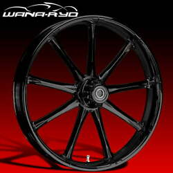 Ryd Wheels Ion Blackline 21 Fat Front And Rear Wheels Only 00-07 Bagger