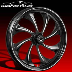 Twisted Starkline 23 Fat Front Wheel Tire Package 13 Rotor 00-07 Bagger