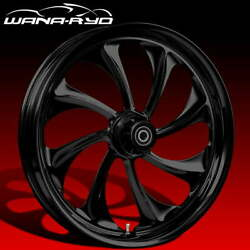 Ryd Wheels Twisted Blackline 23 Fat Front And Rear Wheels Only 2008 Bagger