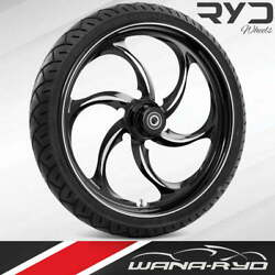 """Reactor Starkline 21 X 5.5"""" Fat Front Wheel And 180 Tire Package 00-07 Touring"""