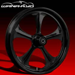 Ryd Wheels Adrenaline Blackline 18 Fat Front And Rear Wheel Only 09-19 Bagger