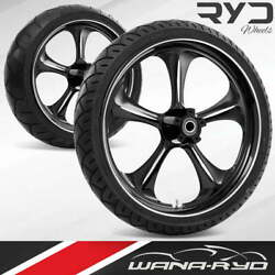 Adrenaline Starkline 21 Front And Rear Wheels Tires Package 09-19 Bagger