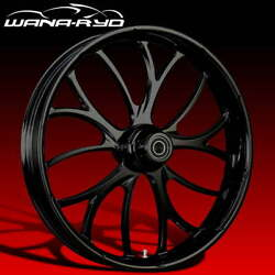 """Electron Blackline 21 X 5.5"""" Fat Front Wheel And 180 Tire Package 00-07 Touring"""