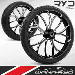 Ryd Wheels Electron Starkline 21 Front And Rear Wheels Tires Package 2008 Bagger