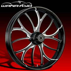 Electron Starkline 21x5.5 Fat Front Wheel And Tire Package 00-07 Harley Touring