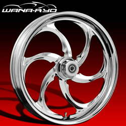 Ryd Wheels Reactor Chrome 26 Front And Rear Wheels Tires Package 00-07 Bagger