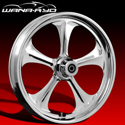 """Ryd Wheels Adrenaline Chrome 21 X 5.0"""" Fat Front Wheel Only 00-07 Bagger"""
