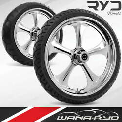 Adrenaline Chrome 23 Front And Rear Wheels Tires Package Dual Rotors 2008 Bagger