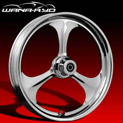 Ryd Wheels Amp Chrome 23 Fat Front And Rear Wheels, Tires Package 09-19 Bagger