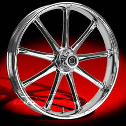 Ion Chrome 23 Fat Front And Rear Wheels, Tires Package Dual Rotors 00-07 Bagger