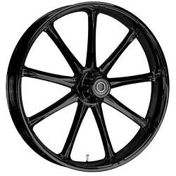 180 Fat Tire 21 X 5.5 Ion Blackline Wheel Package - 2000-19 Harley Touring Flh
