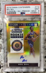 Bol Bol 2019 Rookie Panini Gold Contenders Auto /10 Psa 9 112 Nuggets Rookie