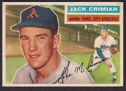 1956 Topps Jack Crimian Card No319 Gray Back Near Mint Condition