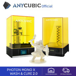 Anycubic Photon Mono X Lcd 3d Printer 4k 192x120x245mm + Wash And Cure 2.0 Diy Kit