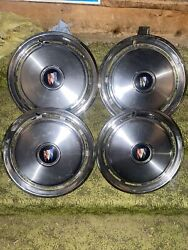 Vintage 4pc Buick Electra 15 Inch Full Wheel Hubcaps 10 Slot Goodcond Rare Find