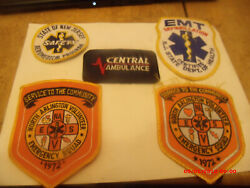 Collection Of Vintage 1960s-70s Emergency Squad And Ambulance Patches.nj Etc