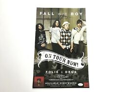 Fall Out Boy Band Signed Promo Tour Poster Patrick Stump Pete Wentz Andy Joe Jsa