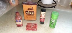 Old Small Medicine And Bandage Tins/ Bottle