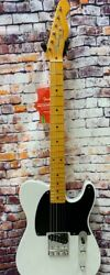 Fender 70th Anniversary Esquire Tele Electric Guitar With Case White Blonde