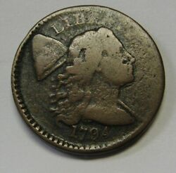 1794 Flowing Hair Large Cent Grading Vg Priced Right Shipped Free J877