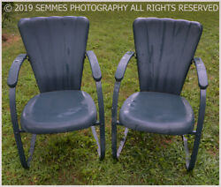 Vintage,1950's/60's All Metal Rocking Chairs,take A Moment Back In Time Lovely