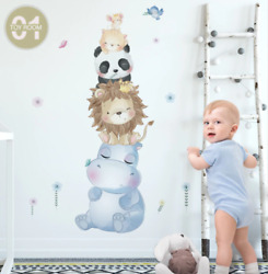 Animals Cartoon Wall Stikers Cute Animals Wall Decals Baby Room Home Decor