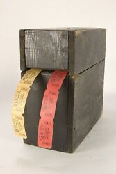 2 Vintage H And M Theatre Circuit Ticket Rolls 10 And 25 Cents And Home-made Holder