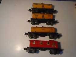 Lionel Prewar Freight Car Lot Two 2654 Shell One 2680 Shell One 2682 Caboose