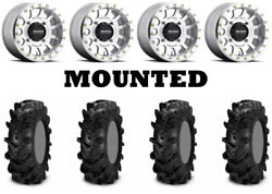 Kit 4 Itp Cryptid Tires 30x10-14/30x11-14 On Method 401 Beadlock Machined Can