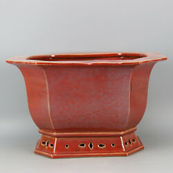 Chinese Antiques Rectangular Octagonal Flowerpot Made In Kangxi Of Qing Dynasty