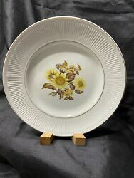 Sunflower By Royal Warwick Dinner Plate 10 Made In England Ribbed Rim