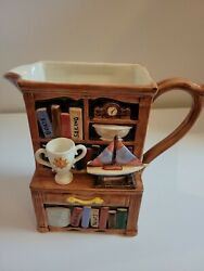 Omnibus By Fitz And Floyd -yacht Club Pitcher - 1995 - Hand-painted - Rare