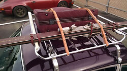 Leitz Roof Rack Leather Luggage Tire Belts Hand Made Straps Porsche 911 And 912