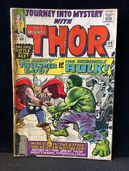 Thor 112 Vs The Hulk Low Grade But Complete Reader