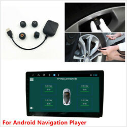 Usb Tpms For Android Car Dvd Player Tire Pressure Monitoring System Sensors Kits