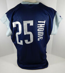 1999 Cleveland Indians Jim Thome 25 Authentic Navy Jersey Tatc 52 Russell 212