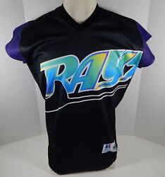 Rare 1999 Tampa Devil Rays Authentic Black Jersey Turn Ahead The Clock 42