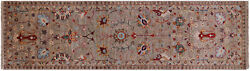 Runner Traditional Handmade Wool Rug 2and039 8 X 9and039 8 - Q8396