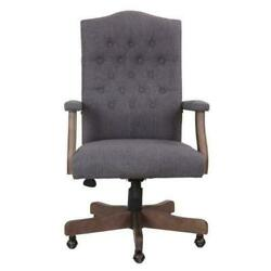 Boss Office And Home Reclaim High-back Traditional Executive Desk Chair Driftwood