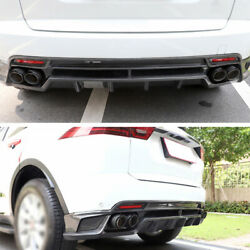 Dry Carbon Fiber Rear Lip And Rear Tail Exhaust Pipe For Jaguar E-pace 2018-2020