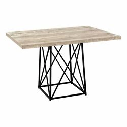 Ergode Dining Table - 36x 48 / Taupe Reclaimed Wood-look/black