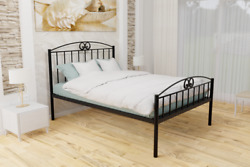 Ashford Extra Strong Wrought Iron Bed Frame W/ Mesh Base - 10 Years Guarantee