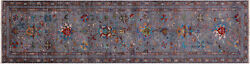 Runner Traditional Hand-knotted Wool Rug 2and039 7 X 9and039 10 - Q8255