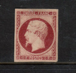 France 21 Extra Fine Mint Unused No Gum With Certificate