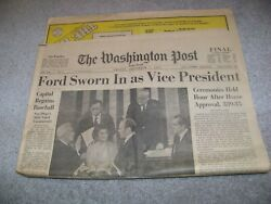 December 7 1973 The Washington Post Ford Sworn In As Vice President