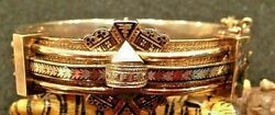 Victorian 14k Gold And Enamel Buckle Bangle 33.2 G Small Wrist Or Child Bin