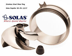 Solas Sea Doo Spark Impeller Sk-cd-12/17 And Stainless Wear Ring