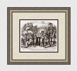 Gallery Framed 1649 Raphael Antique Engraving Ark Of The Covenant Signed Coa