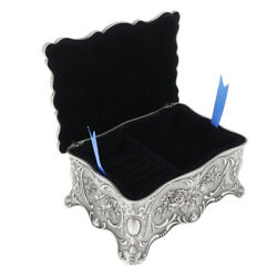 Vintage Style Antique Small Jewelry Box Trinket Storage Chest Ring Case